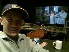 At Road Runner studios previewing the final mix of Agent X44
