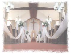 Church aisle during our wedding