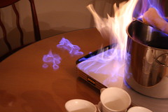 careful not to spill any on the table