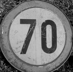Old Speed Sign