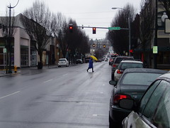 Rainy Window Downtown Olympia - February 15 2007