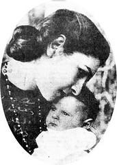Queen Farida and Princess Farial