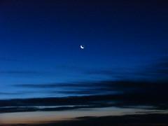 Moon in the morning at Kumara Parvatha