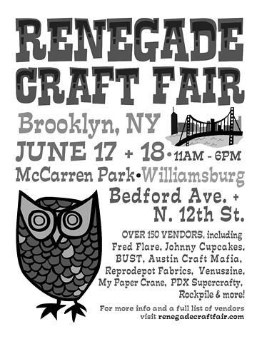 Renegade Craft Fair: June 17 + 18 in Williamsburg's McCarren Park: Brooklyn