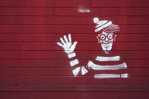 Where's Waldo Stencil