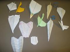 �生們的紙飛機作品