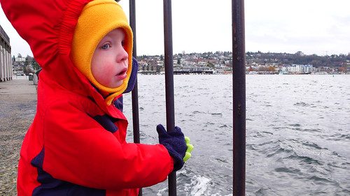 Alex looking over Lake Union