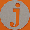 plain card disc letter j