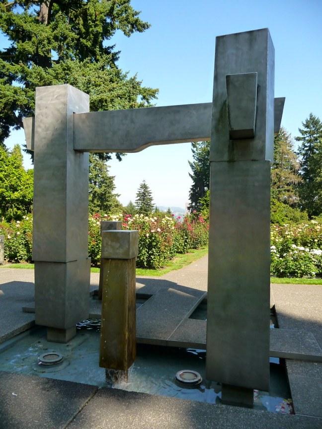Sculpture at Portland's Rose Gardens