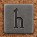 Pewter Lowercase Letter h