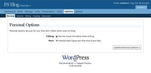 Options [wordpress.com]