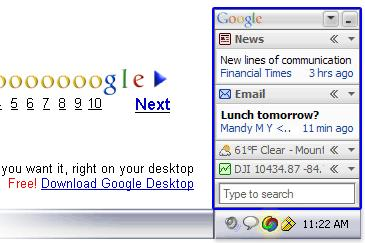 Google ad for Google Desktop