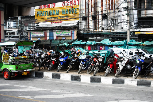 Tuktuk and motorbikes