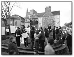 Oxford Bonn Square protest