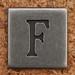 Pewter Uppercase Letter F