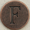 Copper Uppercase Letter F