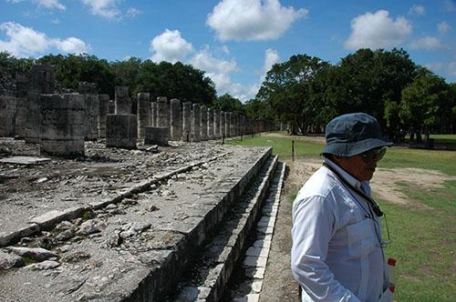 Chichen Itza - 13 - Guillermo and Warior stones