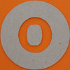plain card disc letter o
