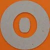 plain card disc letter o