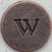 Copper Lowercase Letter w