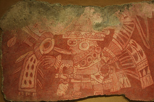 Teotihuacan - 29 - Priest dressed as Tlaloc