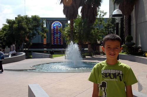 Aguascalientes - 01 - Nadav with Apostrophe fountain