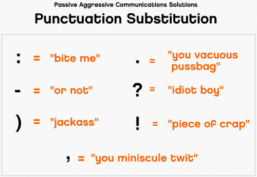 Punctuation Substitution saves lives