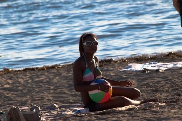 Girl & Beach Ball
