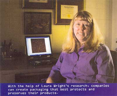 Laura in Furman Magazine
