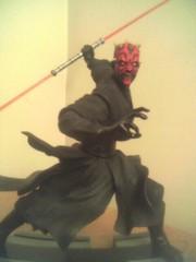 Dark Maul y su espada bífida