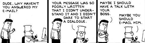 Dilbert does email