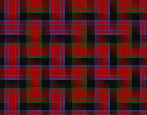 The Alexander clan tartan of Scotland