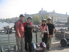 Segwayers with Musée d'Orsay in the background.