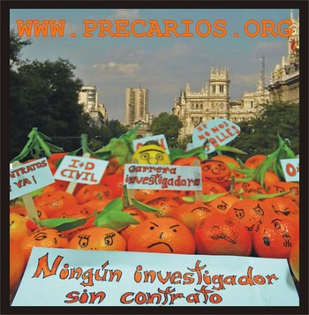 Manifestación de naranjas Madrid 1