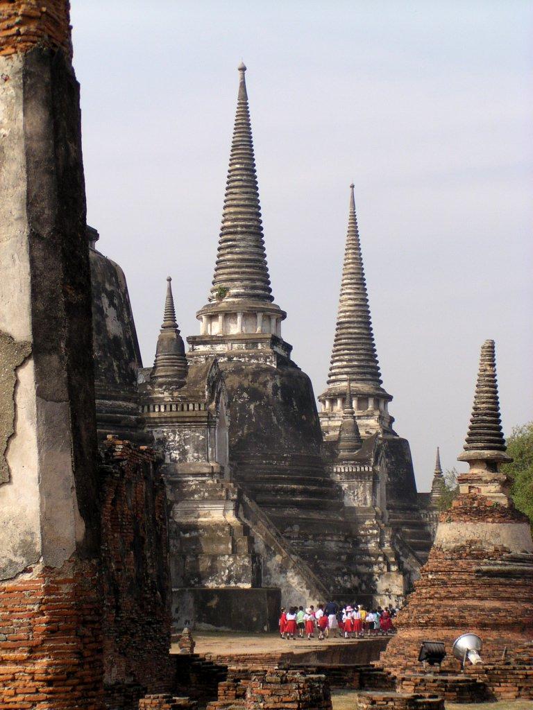 three stupas