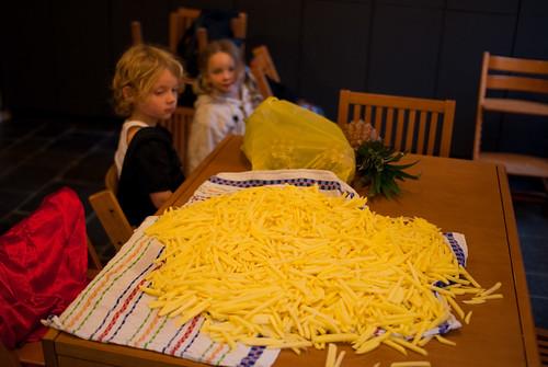Zo zien tien kilo frieten eruit