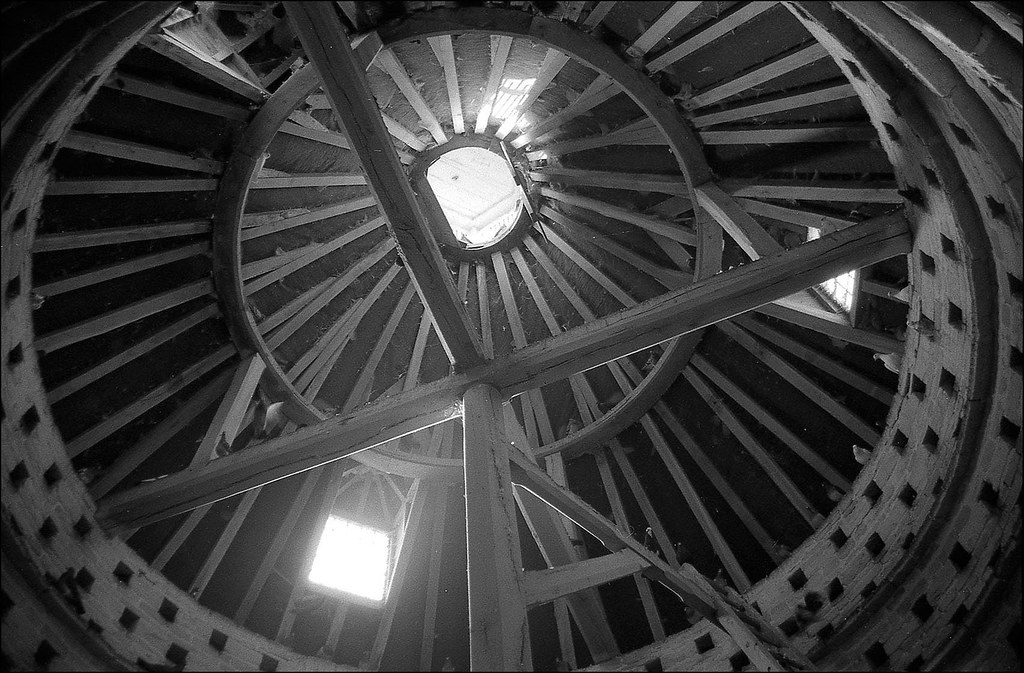 Inside Rousham dovecote
