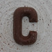 chocolate letter C