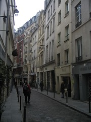 Lydia in the medieval streets of the Latin Quarter.