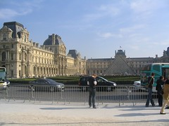 The far end of our Segway tour is the Louvre Museum.