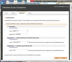 Settings for WordPress on Windows Azure Companion
