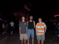 Andy, Ron, and Jake at Epcot