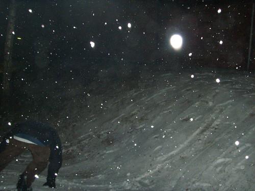 David con la tabla de snow