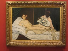 Edouard Manet's (1832-1883)—shocking at the time—Olympia (1863)