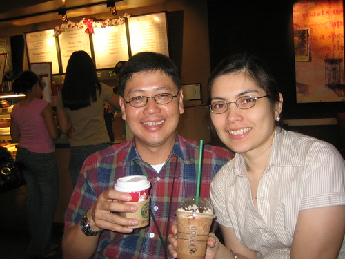At Starbucks Las Pinas