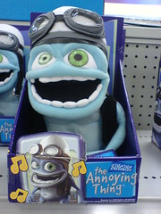 A Crazy Frog stuffed animal