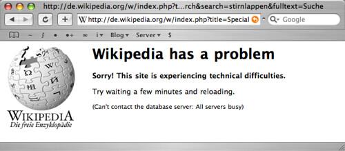 Wikipedia search problem
