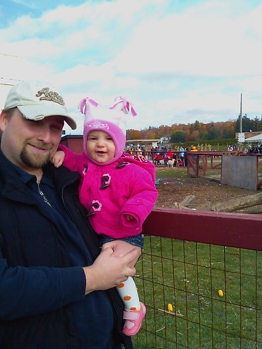 At Pumpkin land with my little pumpkin and the rest of the family.