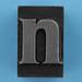 metal type letter n