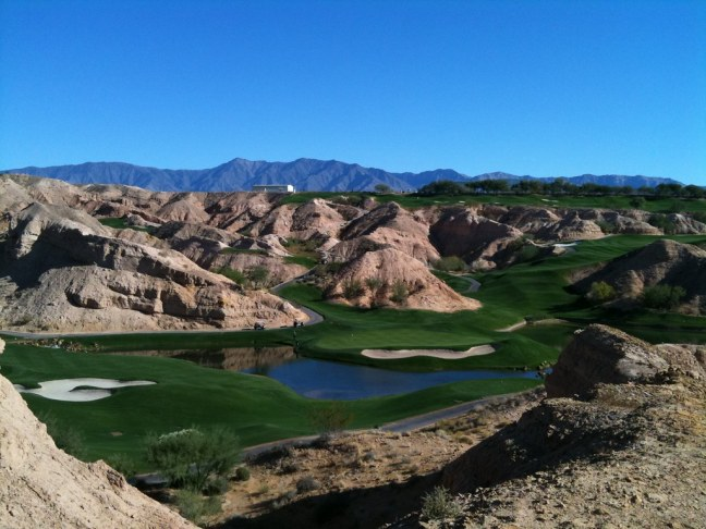 Very, very, very cool Wolf Creek Golf Club in Mesquite, Nevada
